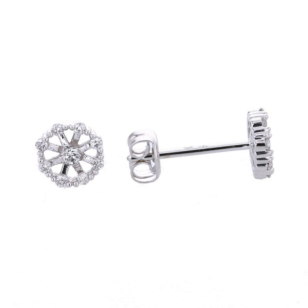 italian hoops dd c diamond design stud earrings italy from chandelier