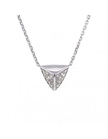 Collier Star W facettés pavés de diamants