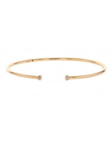 Bracelet jonc bouts pavés de diamants