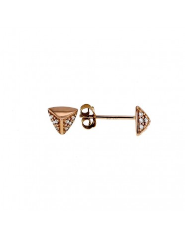 Facets with diamond pave set earrings in 18 K gold