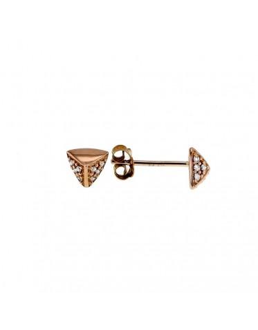 Boucles d'oreilles Star W facettées pavées de diamants