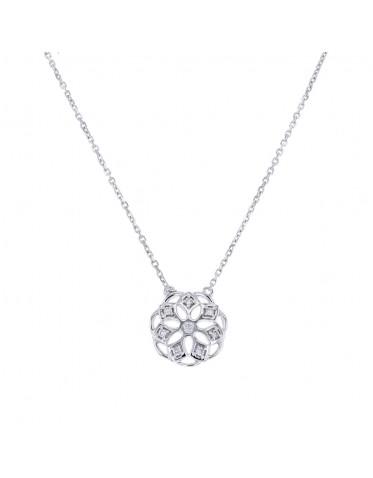 Halsband i vitt guld, smycke med diamanter